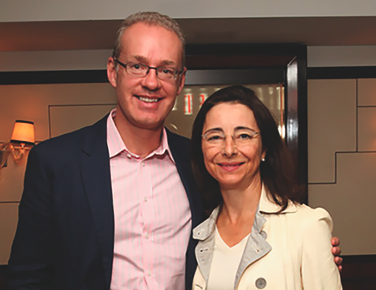 Kevin Ryan and Pascaline Servan-Schreiber, both MBA'90D