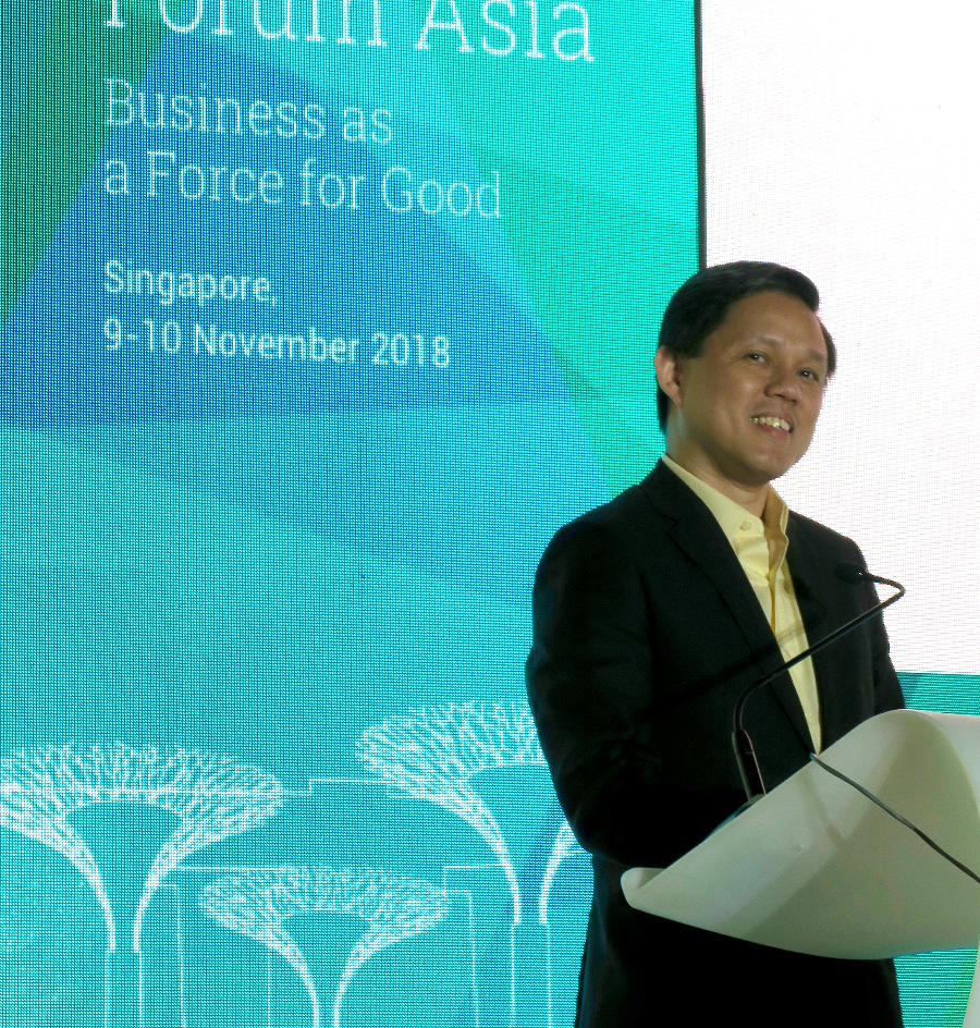 Minister of Trade and Industry in Singapore, Mr. Chan Chun Sing, delivered the keynote address at the INSEAD Alumni Forum Asia.